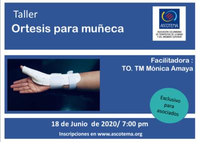 Protegido: Taller Ortesis para Muñeca